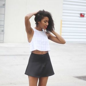 American Apparel Lolita Lulu Crop Top in Grid